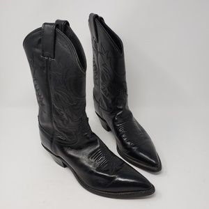 Justin black leather western boots size 7.5